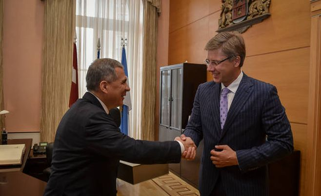 Минниханов пригласил латвийский бизнес вТатарстан