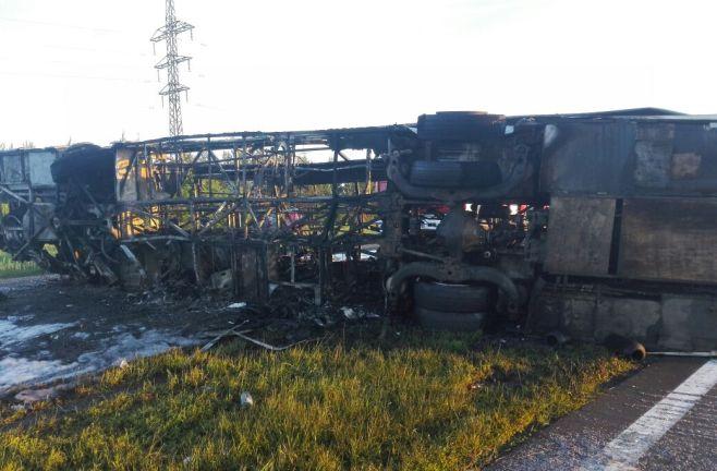 В русском Татарстане сгорели живьем 14 пассажиров автобуса