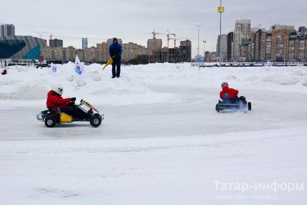 В Казани проходит III этап чемпионата РТ по зимнему картингу