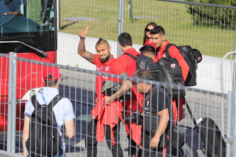 Болельщики проводили покидавшую Казань сборную Чили