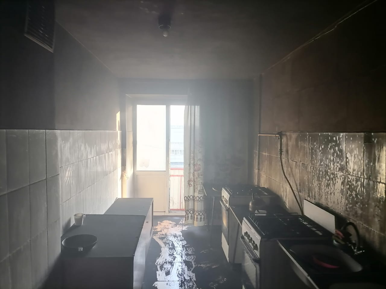 Сгоревшая квартира в Нижнекамске