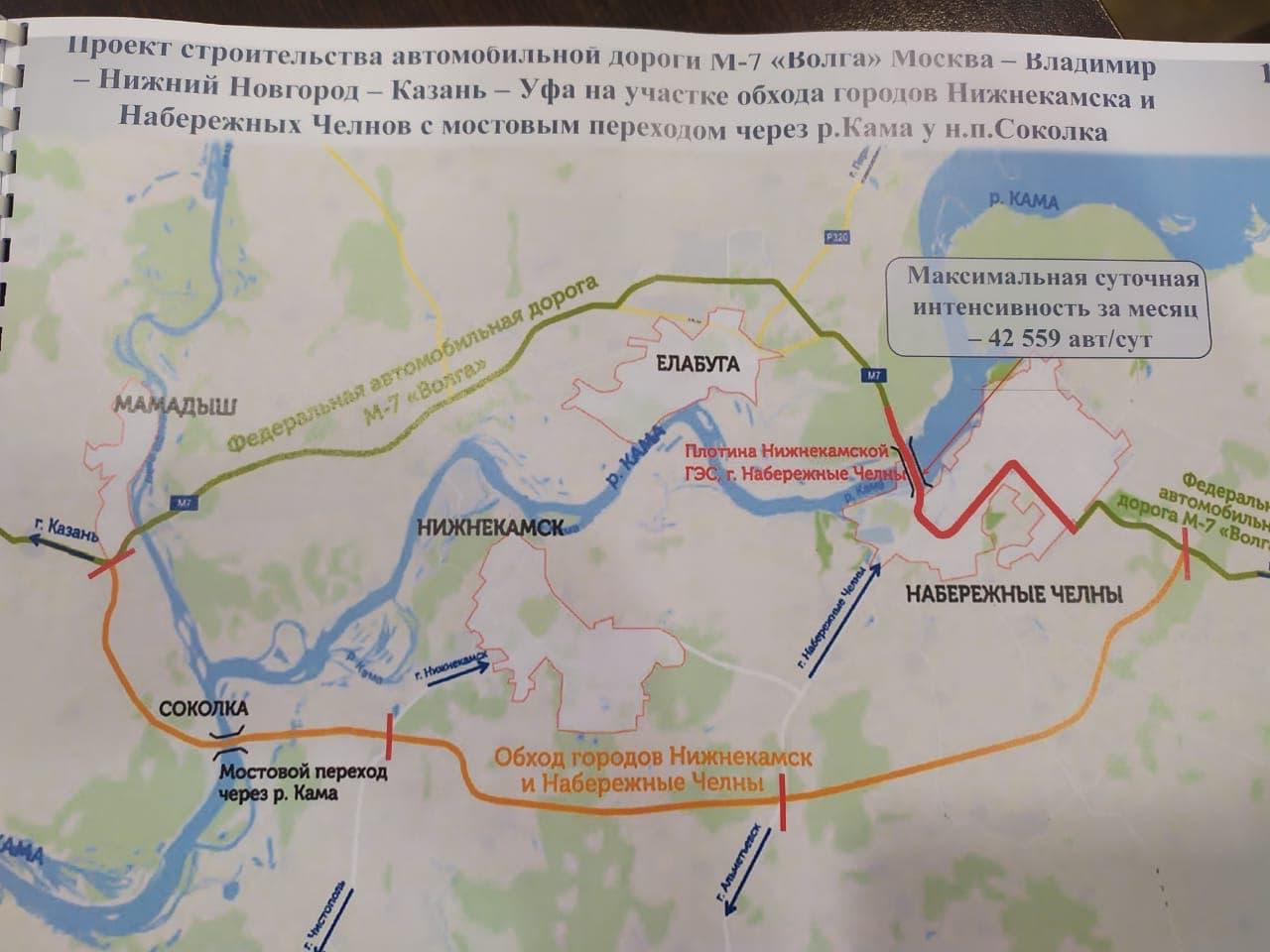 Обход Нижнекамска и Челнов
