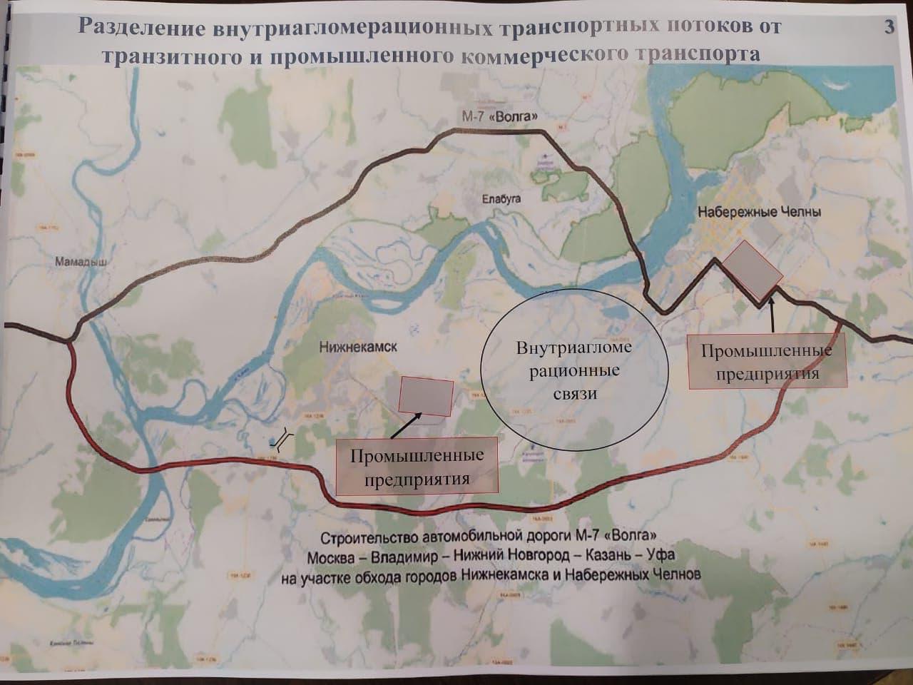 Обход Нижнекамска и Набережных Челнов