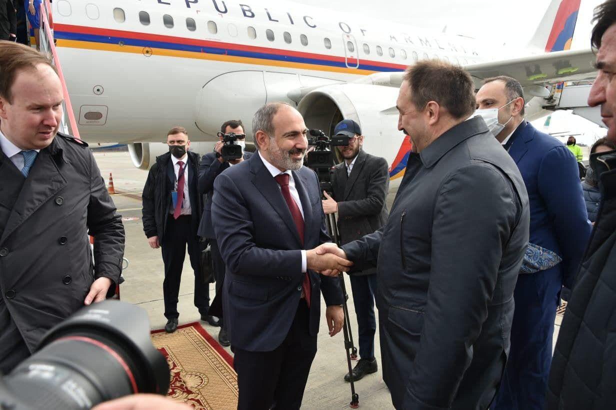 Пашинян прибыл в Казань для участия в заседании Евразийского межправительственного совета