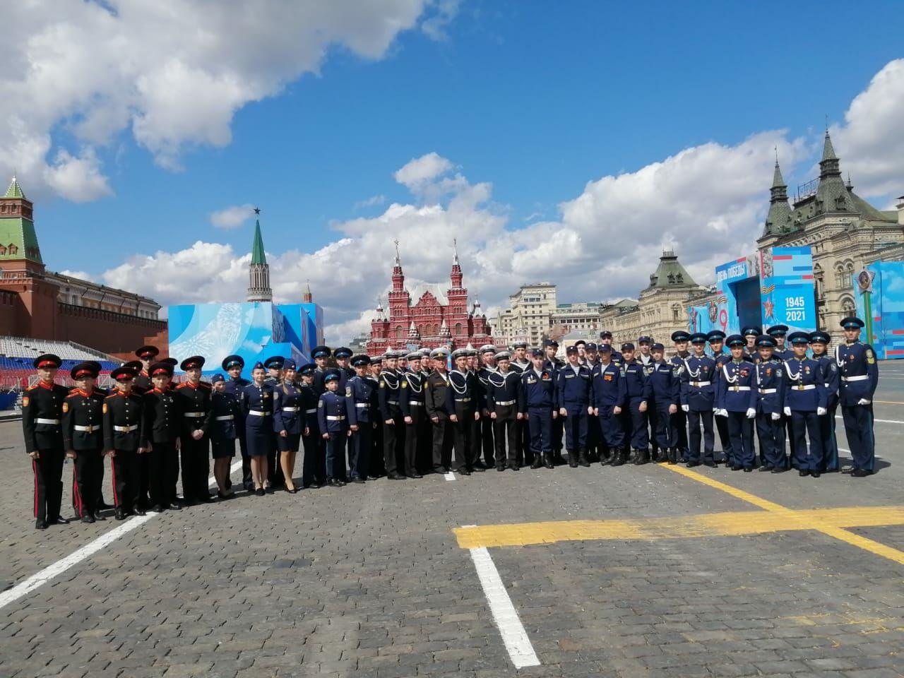 Десять татарстанских кадетов посетили генеральную репетицию парада Победы в Москве