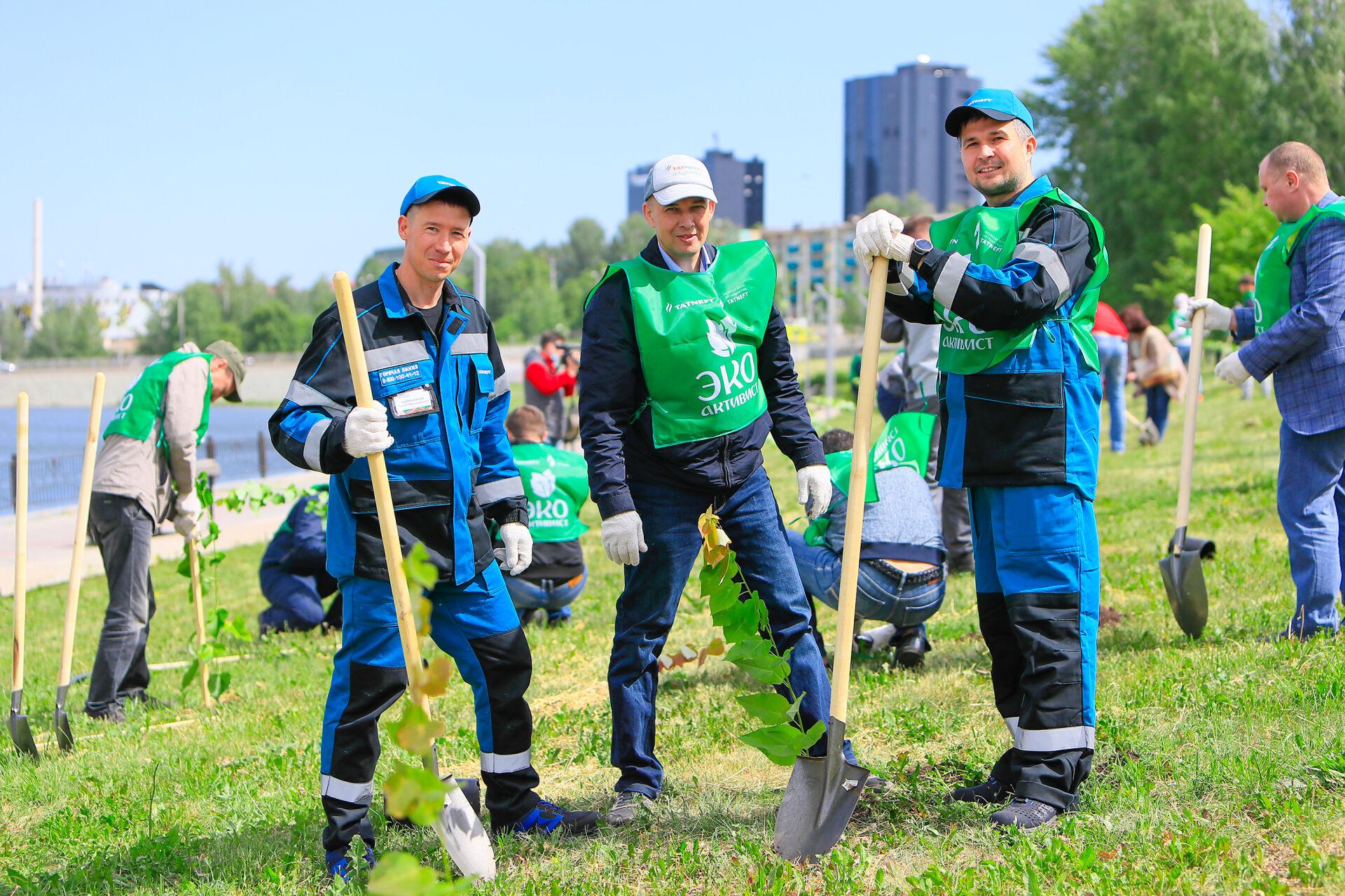 Новый сквер и систему эко-мониторинга подарила «Татнефть» альметьевцам ко Дню эколога