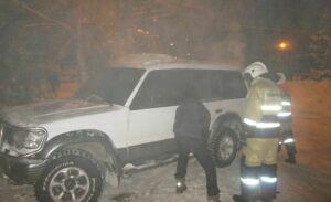 Фото: В Альметьевске на перекрестке сгорела иномарка из Санкт-Петербурга
