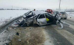 Два человека пострадали в дорожной аварии в Альметьевском районе