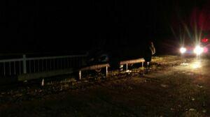 В Нижнекамском районе авто влетело в парапет моста