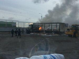 В Высокогорском районе сгорела фура