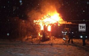 В Дрожжановском районе в сгоревшем частном доме погиб мужчина