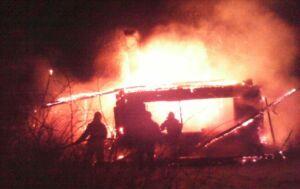 В Лениногорском районе хозяин дома погиб на пожаре