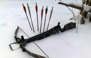 В ИК-2 запустили арбалетную стрелу с наркотиками