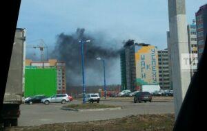 В Зеленодольске загорелась многоэтажка на новостройке