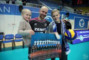 Юный волейболист из Екатеринбурга встретился с игроками казанского «Зенита»