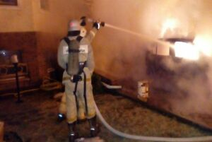 Фото: В центре Казани сгорел «БМВ»