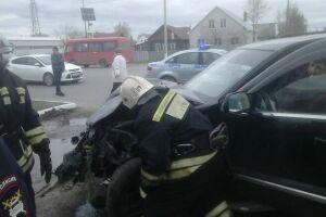 При столкновении двух автомобилей в Усадах пострадал пассажир