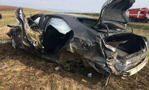 В Муслюмовском районе перевернулся автомобиль