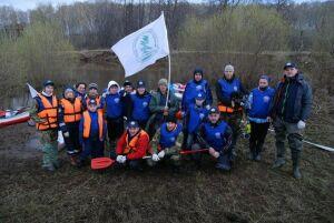 50 кг мусора собрали члены Русского географического общества в РТ в ходе экологического сплава