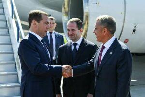 В столицу Татарстана прибыл Дмитрий Медведев