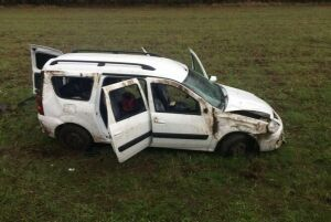 В Альметьевском районе «Лада Ларгус» опрокинулась в кювет, три пассажирки пострадали