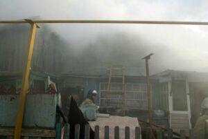 В Высокогорском районе на пожаре в частной бане пострадала женщина