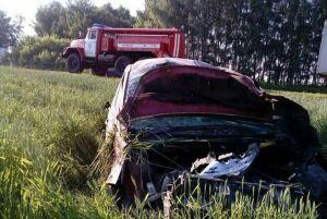 В Высокогорском районе пострадал водитель вылетевшего в кювет «Пежо»