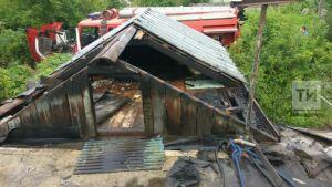 Фото: В садовом товариществе под Челнами мужчина спас из пожара свою подругу