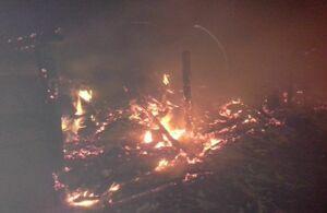 Фото: В Спасском районе от удара молнии вспыхнул сарай с сеном
