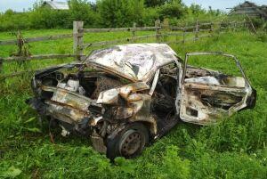 Фото: В Татарстане у сельчанина сожгли «Ладу» 14-й модели