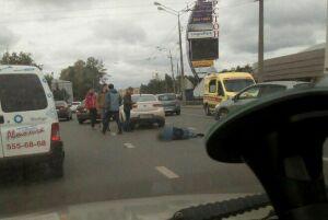 В Казани в ДТП серьёзно пострадал велосипедист