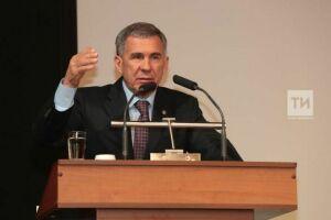 Минниханов раскритиковал директоров-прогульщиков семинара в Набережных Челнах