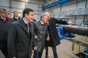 Президент РТ ознакомился с планами развития челнинского АО «Изоляционный трубный завод»