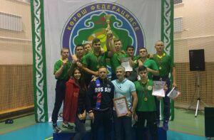 Челнинские борцы на поясах оказались лучшими на первенстве Татарстана в Тетюшах
