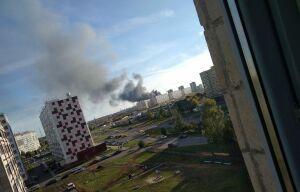 В Челнах горят склады предприятия «Челны бампер»
