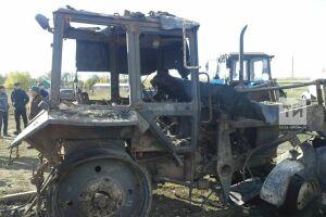 В Татарстане в старом тракторе нашли обгоревшие человеческие останки