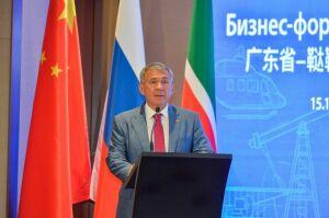 Минниханов: Товары и продукты питания Татарстана могли бы быть достойно представлены в Китае
