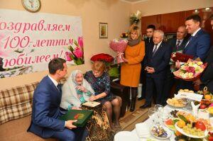 В Альметьевске поздравили с вековым юбилеем первопроходчицу татарстанской нефти