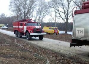 В Татарстане под обломками сгоревшего дома в Соболевском селе обнаружили тело мужчины