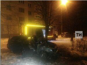 Минувшей ночью в сгоревшей «Приоре» в Казани пожарные обнаружили тело мужчины