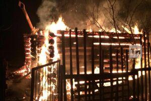 В Тукаевском районе РТ мужчина едва не погиб в загоревшемся дачном домике