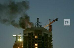 В Казани произошло возгорание на крыше ЖК «Манхэттен»