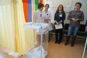 ВЕлабужском роддоме проголосовали 43женщины