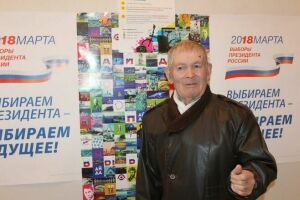 Кмарафону #айданавыборы присоединился долгожитель Дрожжановcкого района РТ