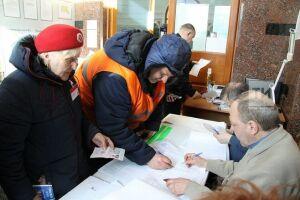 На железнодорожном вокзале в Казани проголосовали 255 избирателей
