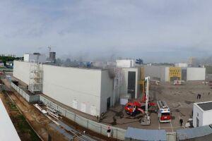 В торговом центре «Порт» в Казани горит первый этаж