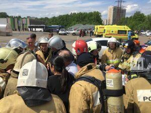 МЧС РТ: Площадь пожара в ТЦ «Порт» увеличилась в десять раз