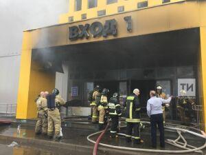 Открытое горение в ТЦ «Порт» ликвидировано