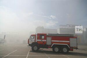Площадь пожара в ТЦ «Порт» увеличилась до 60 кв. метров