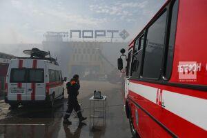 Из-за высокой температуры есть угроза обрушения конструкций ТЦ «Порт»